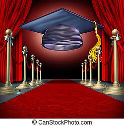 式, 卒業