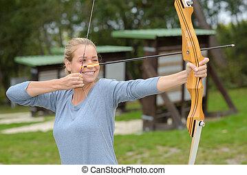 弓, 矢, 女性, 射手