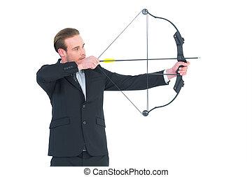 弓, 矢, 射撃, ビジネスマン