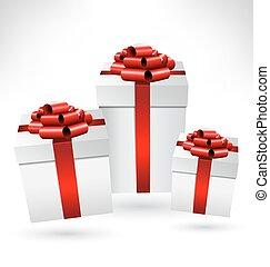 弓, 箱子, grayscale, 禮物