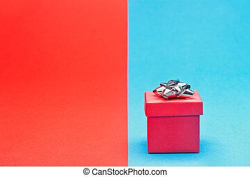 弓, 紅色, 禮物, 銀