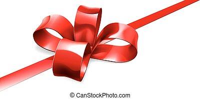 弓, 赤い背景, 贈り物