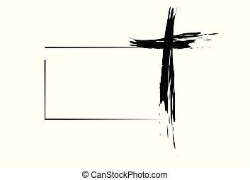 引かれる, キリスト教徒, 交差点, 手