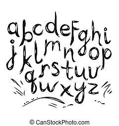 引かれる, ベクトル, alphabet., 手紙, 手