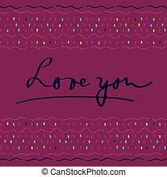 引かれる, 手, カード, バレンタイン