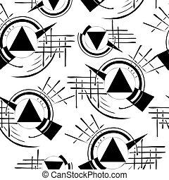 引かれる, 手, 流行, 幾何学的, 生地, 繰り返し, 網, pattern., 背景, 最新流行である, デザイン, design., seamless, 壁紙, テンプレート, card., 手ざわり