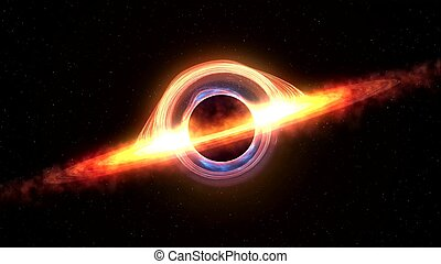 引き付けること, レンダリング, 4k, ビデオ, ブラックホール, スペース, matter., 3d