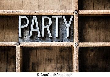 引き出し, タイプ, 凸版印刷, パーティー