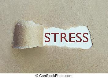 引き裂かれたペーパー, uncovering, ストレス