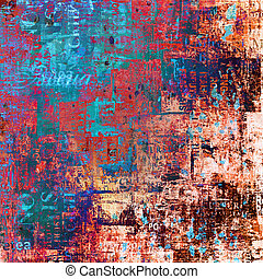引き裂かれた, グランジ, 抽象的, 古い, 背景, ポスター