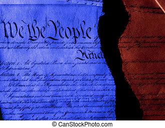 引き裂かれた, 憲法, 半分, 政治, 私達