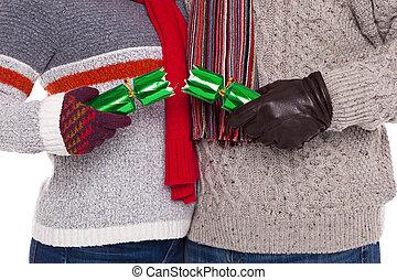 引く, 恋人, クラッカー, クリスマス