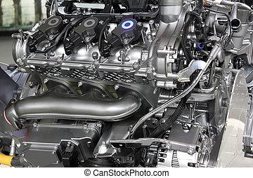 引擎, 汽車, 強大,  v6, 新, 技術