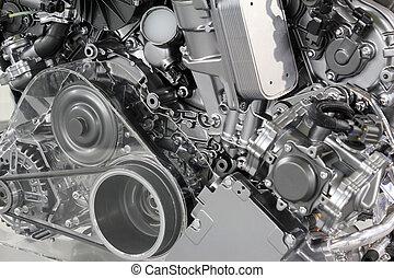 引擎, 汽車, 技術, 強大, 新