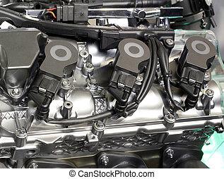 引擎, 汽車, 技術, 細節, 新