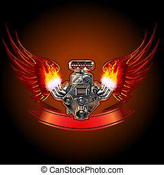 引擎, 渦輪, 翅膀