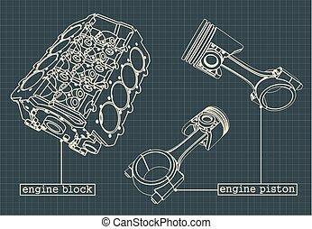 引擎, 蓝图, 块