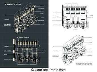 引擎, 蓝图, 柴油机