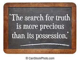 引用, 捜索しなさい, 真実