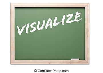 引用, 系列, 黑板, -, 形象化