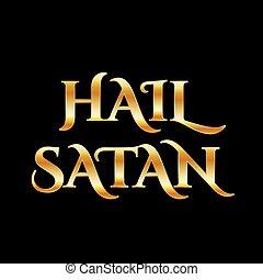 引用, satan-, 神秘的, antichrist, 金, シンボル, あられ