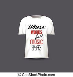 引用, tシャツ, ベクトル, デザイン, テンプレート, ミュージカル