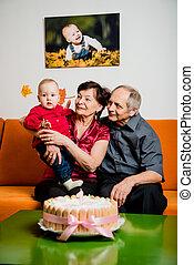 引退, -, birthday, 孫, 幸せ, 最初に