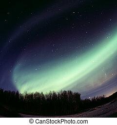 弧, -, ディスプレイ, 強い, auroral