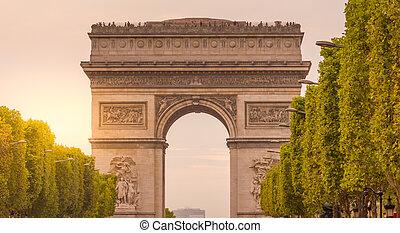 弧, パリ, triomphe, フランス, de