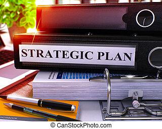 強くされた, image., 戦略上である, 黒, 計画, リング, ぼんやりさせられた, binder.