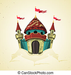 強化された, icon., flags., 城, 漫画