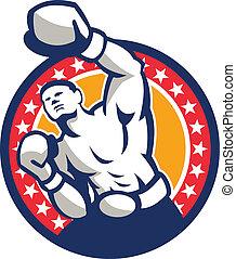 強打する, ボクサー, ボクシング, 突き刺すこと, レトロ