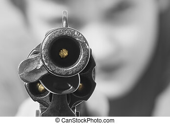 弾が入っている銃