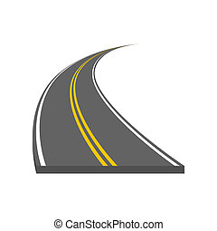 彎曲, 以及, ditrection, 高速公路, 由于, 標號
