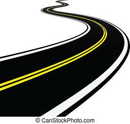 彎曲, 矢量, 路