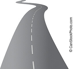 彎曲, 長的道路