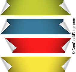 彎曲, 顏色, 角落, 彙整, 紙, 空白, 帶子