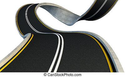 彎曲, 高速公路