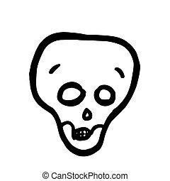 当惑させている, skull., ベクトル, ハロウィーン, 漫画