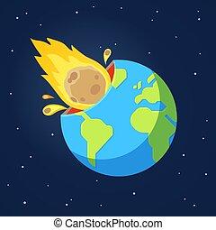 彗星, 衝突, 小惑星, 地球