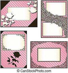 彙整, ......的, 四, 粉紅色, 標籤