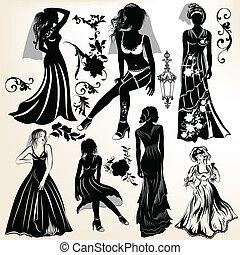 彙整, ......的, 婚禮, 黑色半面畫像