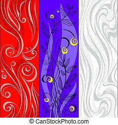 彙整, ......的, 摘要, 旗幟, 由于, 植物, 以及, 自然, motives