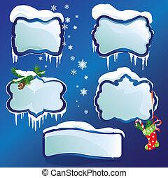 彙整, ......的, 有光澤, 冬天, 框架, 由于, 吹雪, 以及, 冰柱