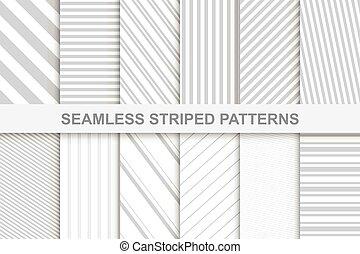 彙整, ......的, 有條紋, seamless, patterns.