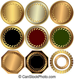 彙整, 金, 銀, 以及, 青銅, 獎品, (vector)