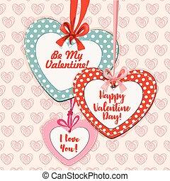 形づくられた心, 挨拶, バレンタイン, デザイン, 日, カード