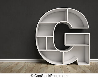 形づくられた, 手紙g, 棚