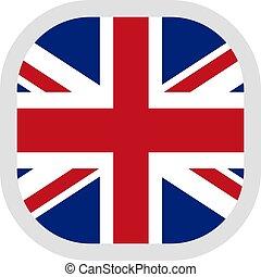形をまっすぐにしなさい, 旗, 背景, 白, アイコン