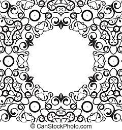 形式的手続き, 円, 装置, の, ボーダー, frames.